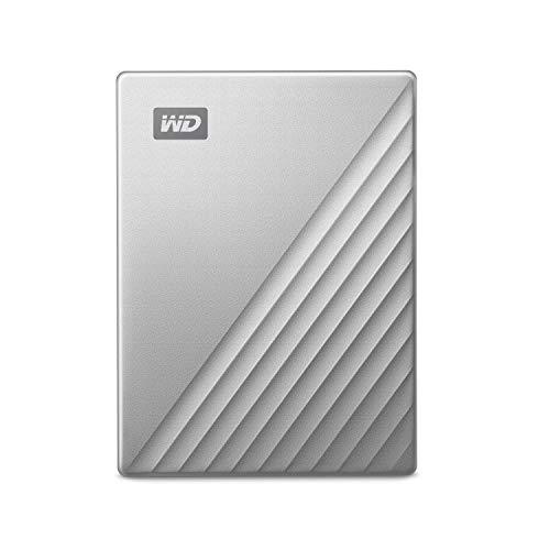 WD My Passport Ultra for Mac externe Festplatte 2TB (mobiler Speicher, WD Discovery Software, Passwortschutz, Mac kompatibel, einfach einzusetzen) silber