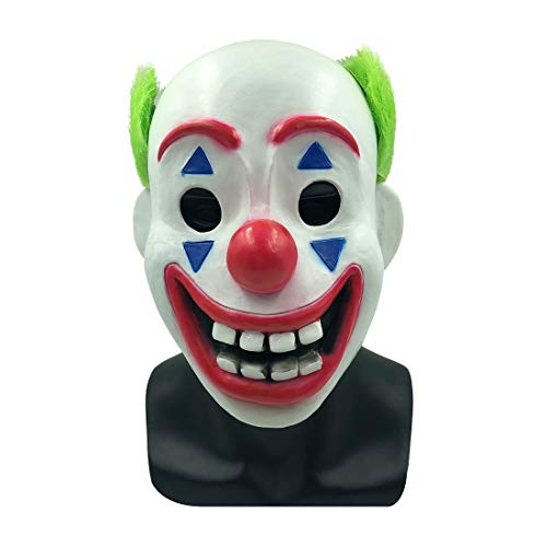 Bulex Joker Mask Clown Halloween Party Cosplay Costume Props (Joker Mask)