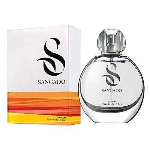 SANGADO Flieder Parfüm für Damen, 8-10 Stunden Langanhaltend, Luxuriös Duftendes, Blumiges, Zarte französische Essenszen, Extra-konzentriert (Parfüm), Ideales Geschenk für Frauen, 50 ml Spray