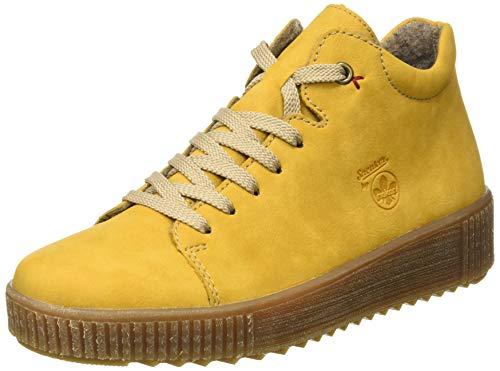 Rieker Damen M6440 Mode-Stiefel, gelb, 39 EU