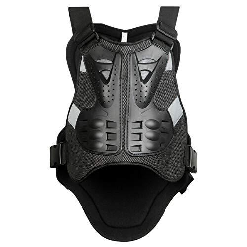 WILDKEN Gilet Protettivo per Moto Protezione del Torace Proteggi la Schiena Gilet di Protezione Sci Giacca Protettiva per Bicicletta Protezione per il Corpo Flessibile e Robusta (L)