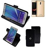 K-S-Trade® Handy Hülle Für Leagoo Z6 Flipcase Smartphone Cover Handy Schutz Bookstyle Schwarz (1x)