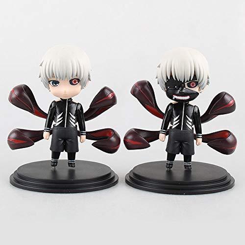 QIYHB 11cm Tokyo Ghoul Anime Figura Q Versión 2 Kinkiken Centipede Awakening Cola Negra en Caja Versión Premium Escultura Decoración Estatua Estatuilla Modelo Muñeca de Juguete