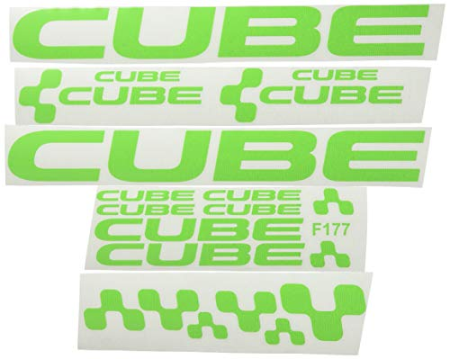 Ecoshirt CM-IML3-8FCE Pegatinas Cube F177 Vinilo Adesivi Decal Aufkleber Клей MTB Stickers Bike, Verde