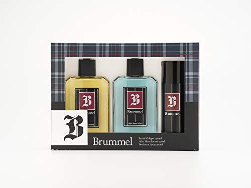 Brummel - Classics Estuche de Regalo para Hombre, Eau de Cologne 250 ml, After Shave 250 ml y Desodorante en Spray 150 ml