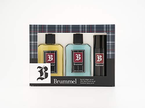 Brummel - Classics Estuche de Regalo para Hombre, Eau de Cologne 250 ml, After Shave 250 ml y Desodorante en Spray 150 ml