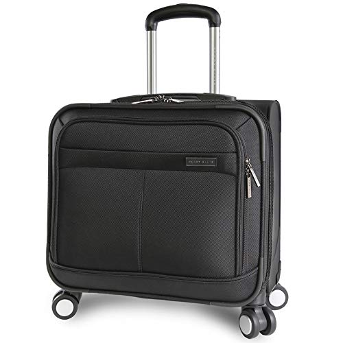 Perry Ellis 8-Wheel Spinner Mobile Office, Black,...