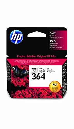 HP 364 Photo CB317EE, Negro, Cartucho de Tinta Original, de 130 páginas, para impresoras HP Photosmart 5510, 5520, 5525, 6510, 7510, 7520, B8550, C5380, C6380 y D5460