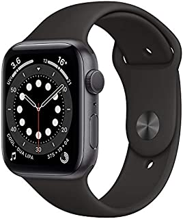 Apple Watch Series 6 (CEL, 44mm) Space Gray Aluminium Case with Black Sports Band