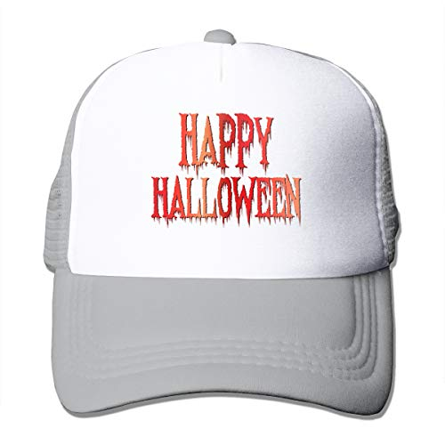 CVDGSAD Red Happy Halloween Mesh Red D Print Verstellbarer klassischer Snapback Cap Hat