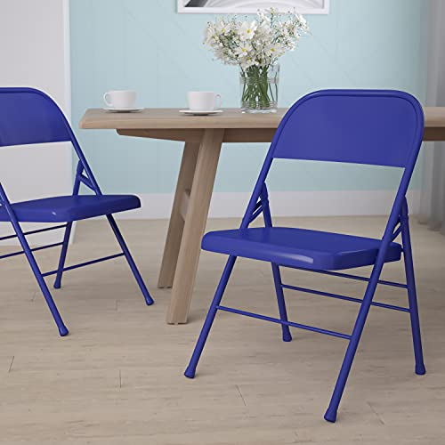 Flash Furniture Cobalt Blue Folding chair, 1 Pack