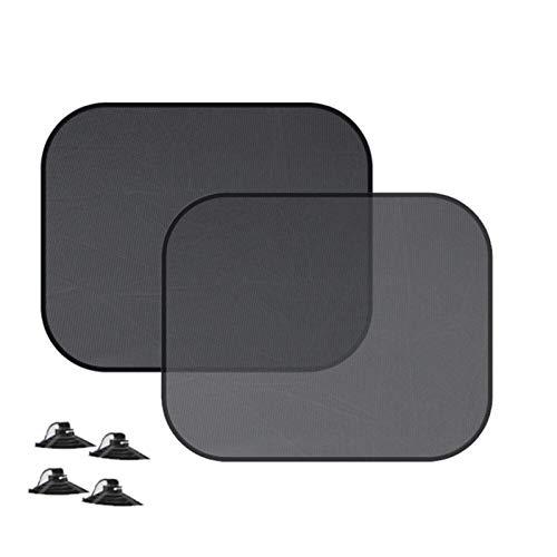 Gwgbxx 2 Piezas De Automóvil Única Sombra Sombra Cerca De Malla Cubierta De Protección Sombra Visera Parasol Lateral del Automóvil (Color : Black)