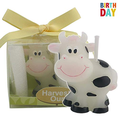 TIHOOD Creative Cow Cartoon Birthday Candle, Smokeless Cake Candle and Party Supplies, Hand-Made Cake Topper Decoration, Great Gift