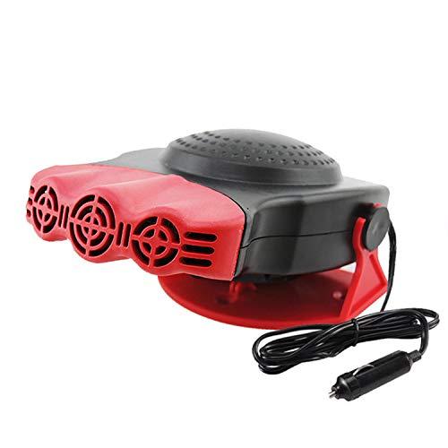 3-Vent draagbare 180 graden rotatie 12V auto auto voertuig elektrische kachel ventilator verwarming koeling ontdooiing Defogger ontwasper rood