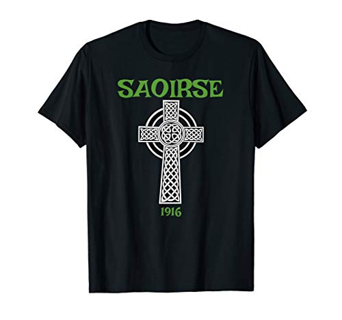 Saoirse meaning Freedom Irish Republican With Celtic Cross T-Shirt