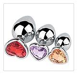 Z-one 1 3Pcs Lover Heart Acero inoxidable ?n?les Trainer Kit-Jewelry B?tt Beads Juguetes de masaje Juguetes de masaje de...