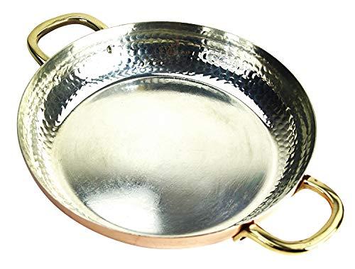 CopperGarden Kupferpfanne 28 cm mit Griffen I Mit Zinn beschichtete Pfanne aus Kupfer zur idealen Wärmeleitung/-verteilung I Bratpfanne spülmaschinenfest & robust I 100% lebensmittelecht