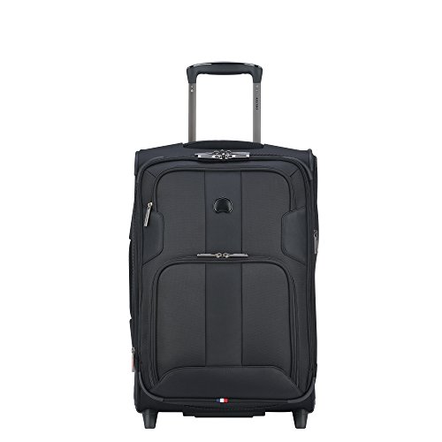 Delsey Paris Luggage Sky Max Carry On Expandable 2 Wheeled Suitcase, Black