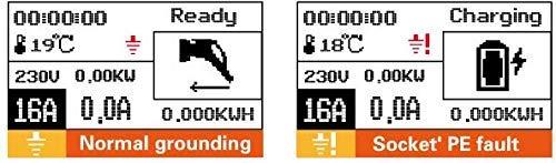 Tragbare Mobile Wallbox EVSE Ladegreät Ladestation   11KW   16A   3 Phasig   CEE 5 Pin zu Typ 2  7 Meter + Tragetasche - 3