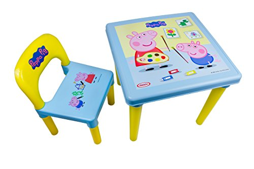 Peppa Pig-My First Table And Chair Set Creative Activity Kit (30-Piece) Tavolo, DARP-CPEP016