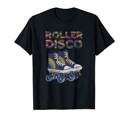 Rollschuh Retro Vintage 60er 70er 80er Jahre Roller Disco T-Shirt