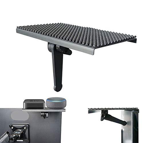 Yokepo Solide Bildschirmablage, verstellbare Halterung für Desktop-PC Monitor zur Platzierung von Kabelboxen, Lautsprechern, Apple TV, Playstation, Kameragerahmen, Fernbedienung New 8 inch schwarz