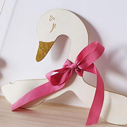 LdSJj 1 PC de Madera Linda Swan House Pared Perchas Bastidores de Ropa for niños Sala de Colgar de la Pared Decorar la Pared de Madera Percha Bastidores (Color : Ribbed Band Bow)