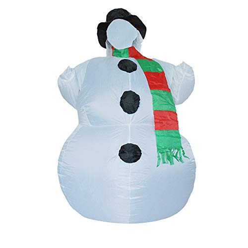 Armfer-household supply Inflatable Snowman Costume Waterproof Lightweight Cosplay Creative Clothes Battery Powered Blow Up Body Suit Jumpsuit for Adult Child Carnival Party Fancy Dress
