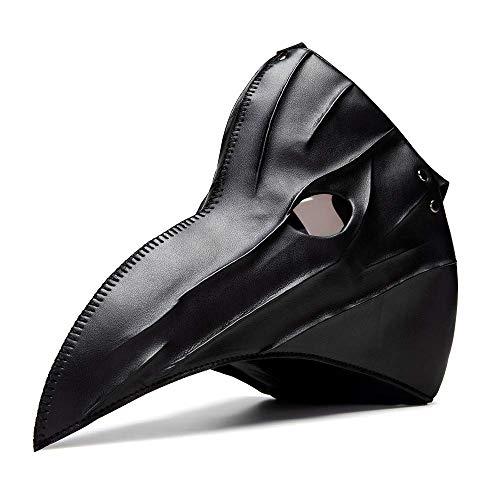 latexguenstigde Steampunk Maske - Pestmaske - Lederstylemaske - mit Schnalle - One Size (Braun)