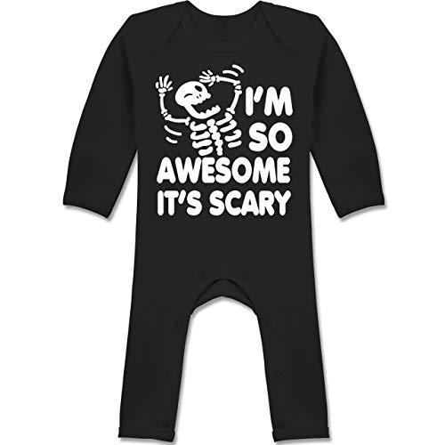 Shirtracer Halloween Baby - I'm so Awesome It's Scary - 3/6 Monate - Schwarz - I'm so Awesome It's Scary - BZ13 - Baby-Body Langarm für Jungen und Mädchen