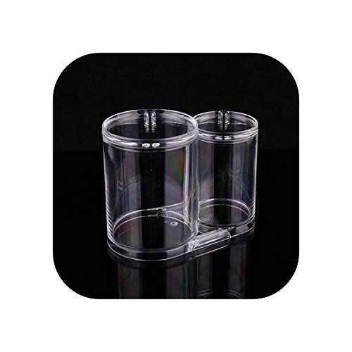 Étui de rangement pour bijoux | Nouveau mode coton écouvillons boîte en plastique titulaire coton écouvillons bâton étui de rangement cosmétique maquillage organisateur femmes poudre boîte-clair-