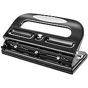 Amazon Basics 3-Hole Punch, 30 Sheet Capacity - Black