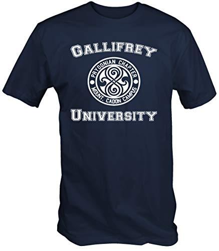 6 TEE NINERS Universidad de Gallifrey Camiseta (Disponible en Azul,Negro y Rojo Tallas pequeñas a XXL)