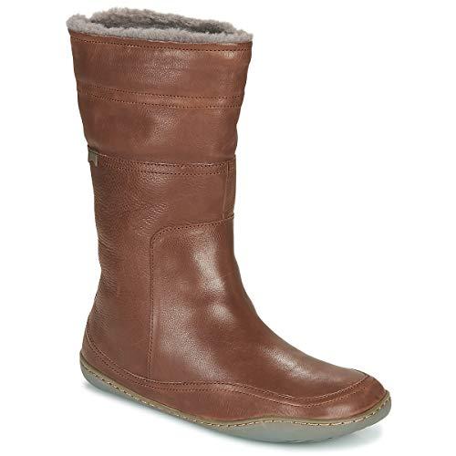 Camper Peu Cami, Bota caña Mujer, Color marrón Medio, 35 EU
