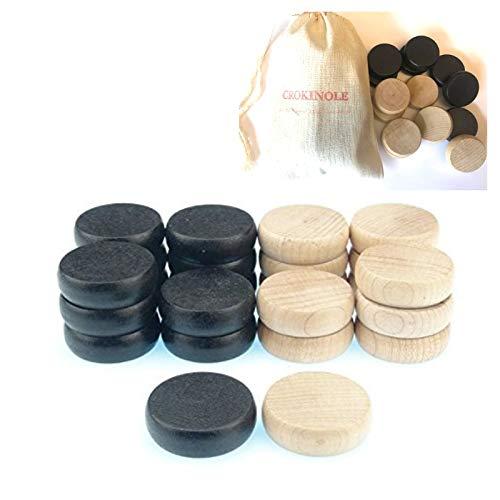 15 Black 15 White Crokinole Set Buttons Disc 30 Pieces Tradeopia Corp