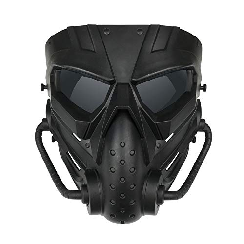Alien Airsoft Mask Full Face Tactical Mask with Eye Protection Impact Resistant for Airsoft...