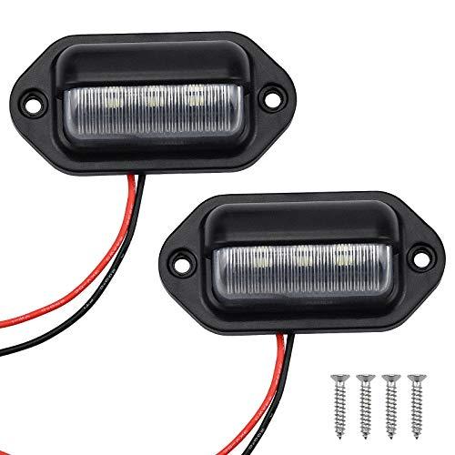 2 Stk LED Kennzeichenbeleuchtung Glühbirnen Nummernschildbeleuchtung Kennzeichenleuchte Anhänger Glühbirnen Nummernschild Beleuchtung Lampe für Auto Anhänger Fahrzeug LKW Van Caravan Boot