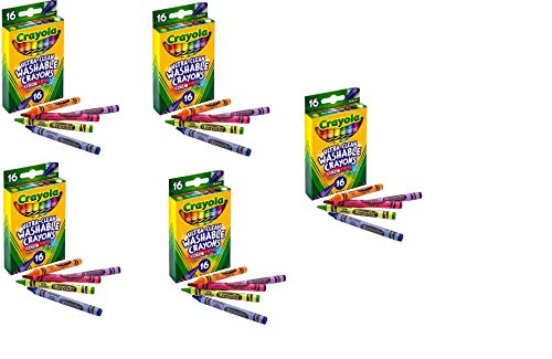 Crayola Ultra-Clean Washable Crayons (526916) (Pack of 5)