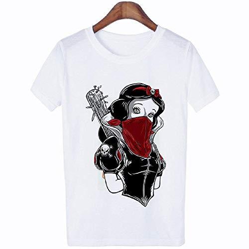 Sommer Frauen T-Shirt Vogue Lustige Prinzessin Bad Woman Printed T-Shirt Damen Harajuku Kurzarm Kleidung