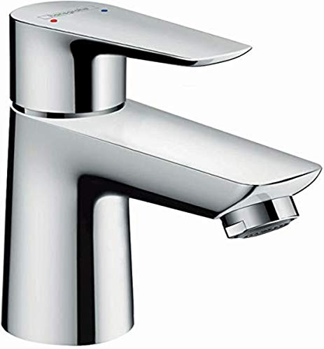 hansgrohe Talis E Modern Easy Install Easy Clean 1-Handle 1 5-inch Tall Bathroom Sink Faucet in Chrome, 71708001