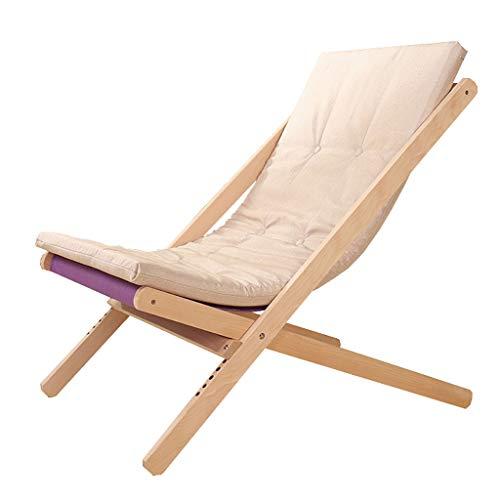 Chaises Longues Chaise Longue Fauteuil Pliant Fauteuil canapé Plage Balcon Chambre à Coucher Loisirs 4 Couleurs Pas de Repose-Pieds (Couleur : C)