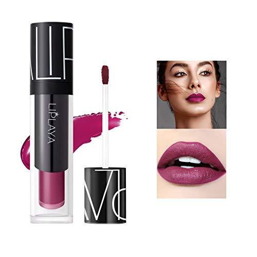 Mimore Moist Lipstick Maquillaje profesional Lápiz labial líquido, impermeable Taza antiadherente Sexy Colors Lápiz labial Hidratante Suavizante,Duradero 24 horas Hidratante Impermeable (105)