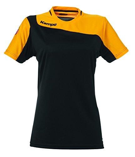Kempa Tribute T-Shirt pour Femme Large Noir/Orange