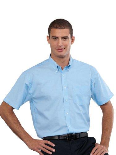 Z933 Kurzärmeliges Oxford Hemd Oberhemd Herrenhemd 4XL / 49/50,Oxford Blue