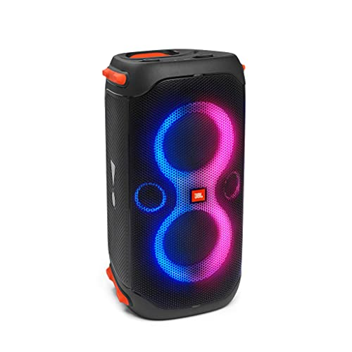 JBL PartyBox 110 Speaker Wireless Bluetooth Portatile con Effetti di Luce, Cassa Altoparlante Impermeabile IPX4 per Feste, Ingresso per Microfono e Chitarra, USB, fino a 12 h di Autonomia, Nero