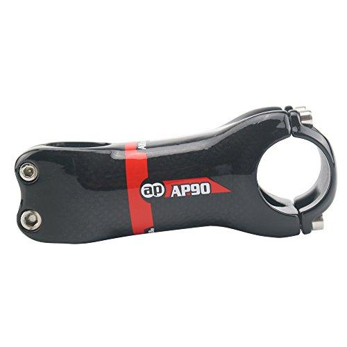 Alfa Pasca Fahrrad Vorbau Carbon Rennrad MTB +-6 Grad 3K Glänzend Rot 31.8 * 70mm