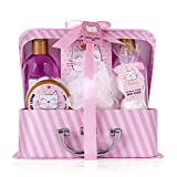 Accentra Bade- und Dusch- Set Princess Kitty für Frauen und Mädchen, mit süßem Erdbeere &...