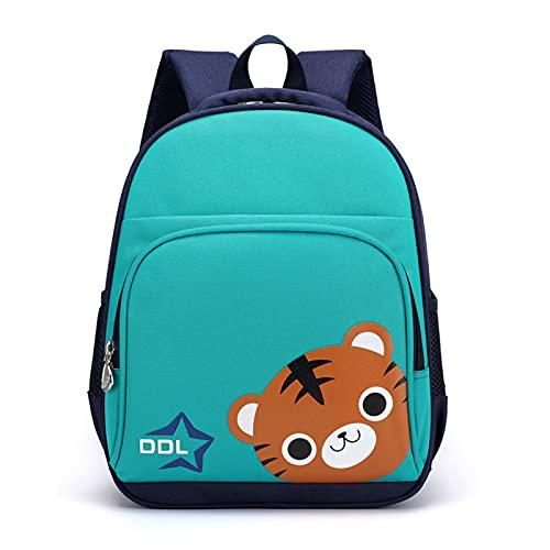 Honestyi Kinderrucksack Rucksack für Mädchen, Kleiner Schulranzen Mädchen, Tiger Kinder Rucksäcke Leichte wasserdichte Büchertasche für Mädchen Kindergartenschüler 25x12x32cm