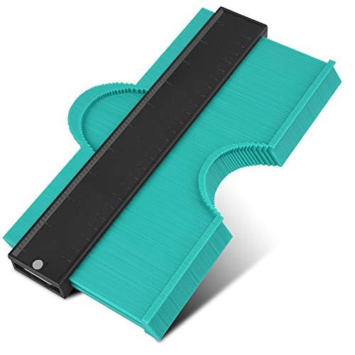 KEGOUU Contour Gauge 10 Inch Profile Gauge Measure Ruler Contour Duplicator for Precise Measurement Tiling Laminate Wood Marking Tool