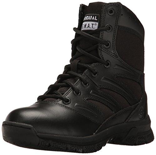 "Original S.W.A.T. Men's Force 8"" Side Zip Military & Tactical Boot, Black, 10 M US"